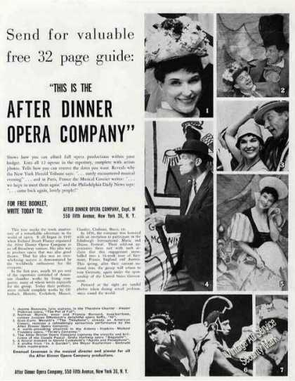 After Dinner Opera Company Photos Promo (1960)