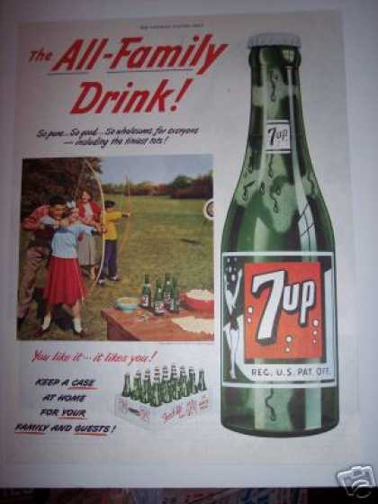 7up 7 Up Family Drink Archery (1951)