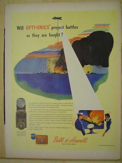Bell & Howell Opti-Onics AND Pabst Blue Ribbon Beer (1944)