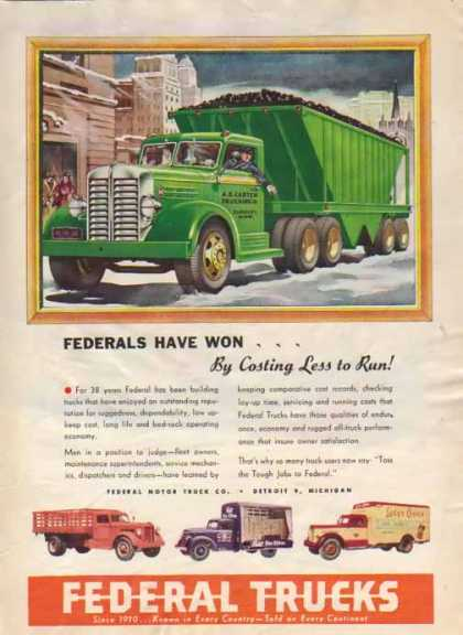 Federal Trucks – A.E. Carter Trucking Co. – Sold (1948)