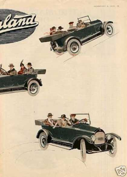 Willys-overland Car Color Ad Centerfold (1918)