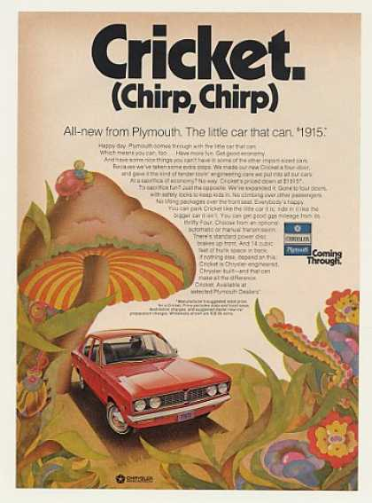 Plymouth Cricket The Little Car That Can (1971)