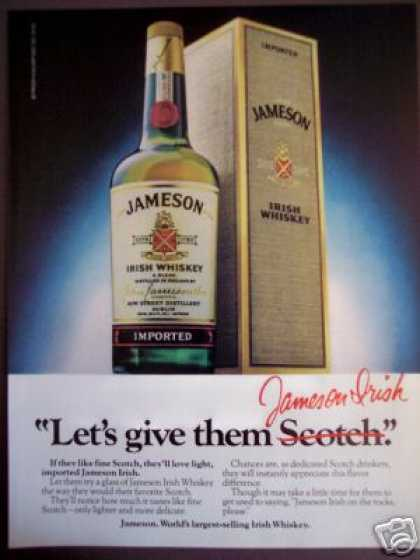 Jameson Irish Whiskey Whisky Bottle (1980)