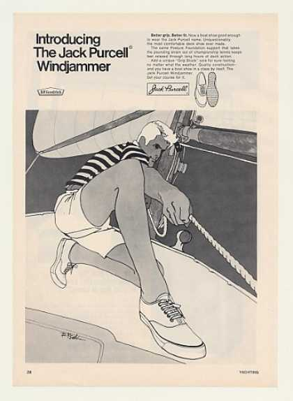 Jack Purcell Windjammer Boat Shoes Bob Peak art (1969)