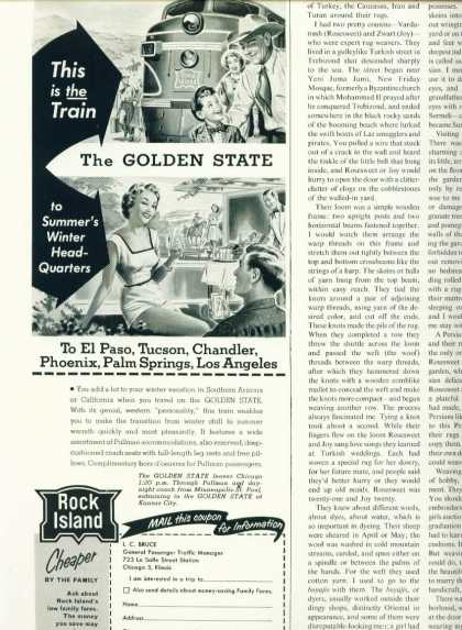 Rock Island the Golden State C 1/2 Page (1950)