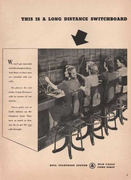Bell Telephone Long Distance Switchboar (1942)
