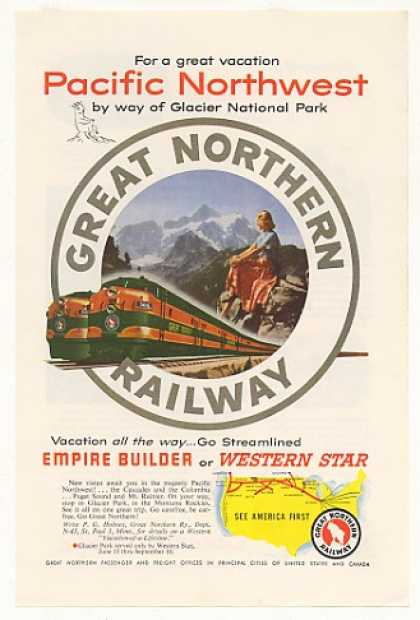 Great Northern Railway Empire Builder Trains (1953)