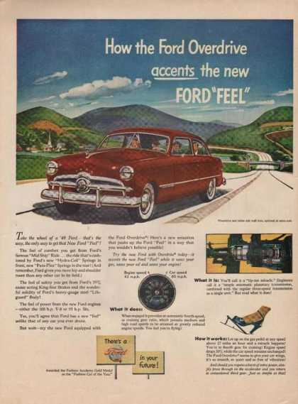 Overdrive Accents New Ford Car Feel Print (1949)