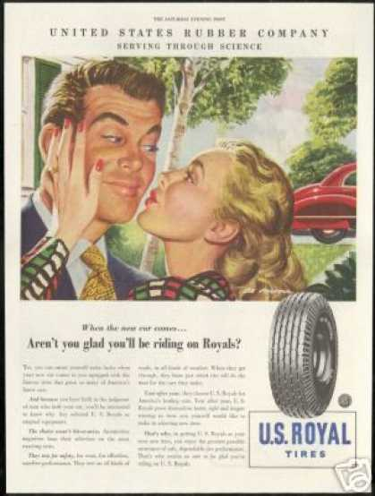 Thankful Woman US Royal Tires Vintage (1947)