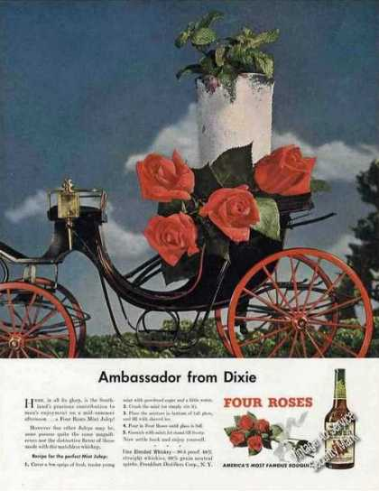 Four Roses Mint Julep Recipe (1948)