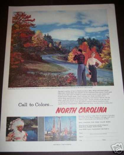 North Carolina Blue Ridge Fall Colors Travel (1958)