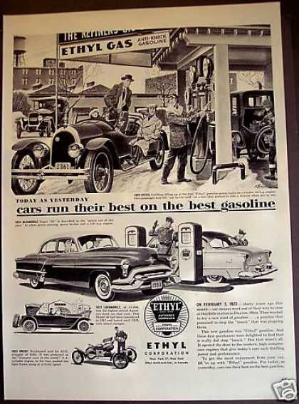 Ethyl Gas Cars of the Past (1953)