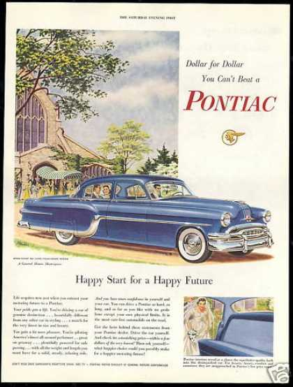 Pontiac Star Chief Deluxe 4dr Car Wedding Bride (1954)