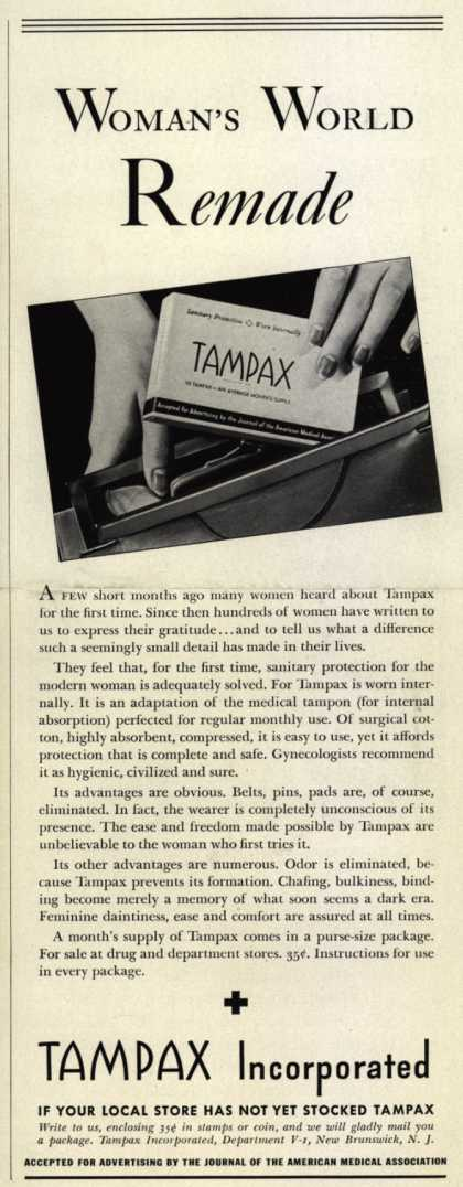 Tampax's Tampons – Woman's World Remade (1937)