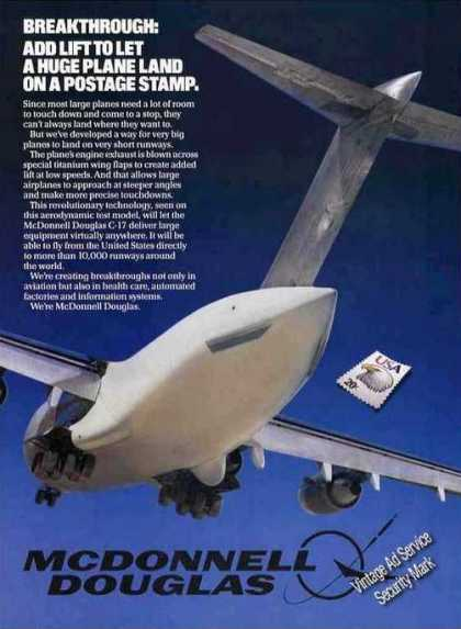 Mcdonnell Douglass Breakthrough C-17 Test Model (1984)
