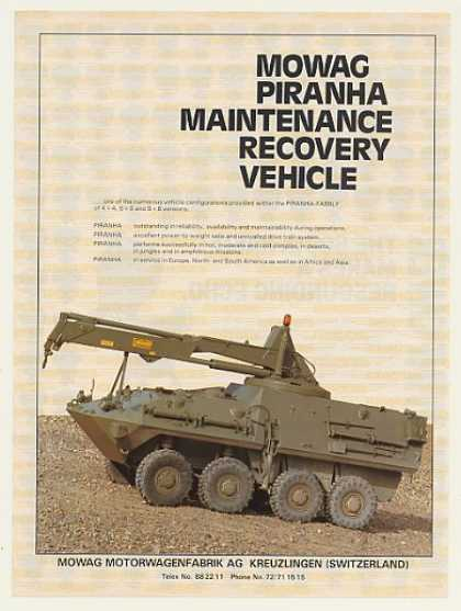 '86 Mowag Piranha Maintenance Recovery Vehicle Photo (1986)