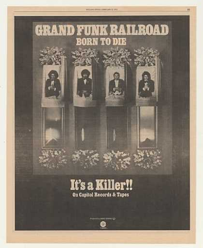Grand Funk Railroad Born To Die Capitol Records (1976)