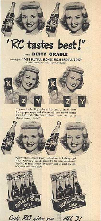 Royal Crown Cola – Betty Grable (1949)