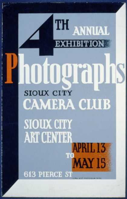 Photographs, 4th annual exhibition, Sioux City Camera Club. (1936)