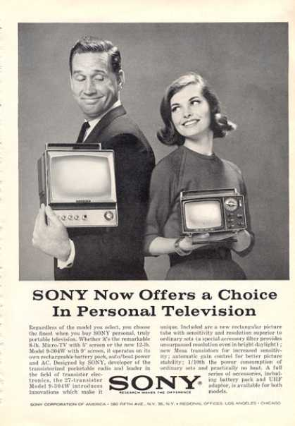 Sony Portable Micro Tv Television Print (1964)