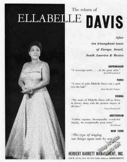 Ellabelle Davis Photo Soprano Trade (1959)