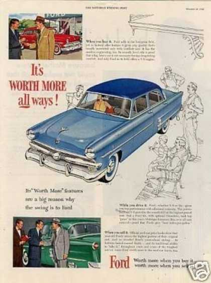 "Ford Car Ad ""It's Worth More... (1953)"