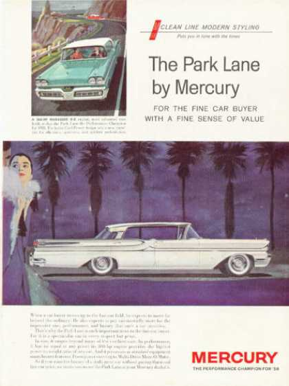 Mercury Park Lane Four Door Hardtop Cruiser (1958)