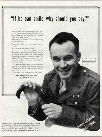 If He Can Smile Why Should You Cry? Wwii Wound (1944)