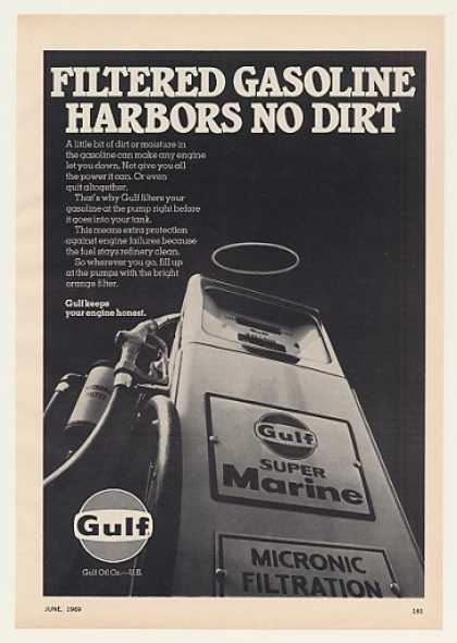 Gulf Super Marine Filtered Gasoline Pump (1969)