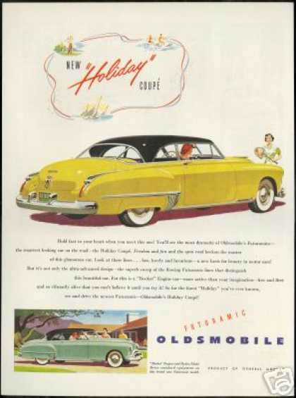 Oldsmobile Holiday Coupe Vintage Print Car (1950)