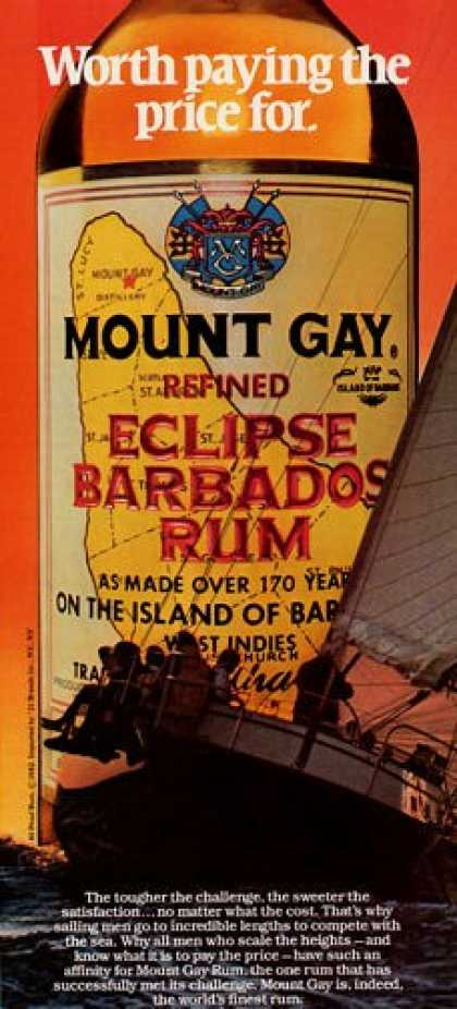 Mount Gay Eclipse Barbados Rum Bottle T (1982)