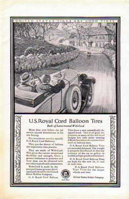 U.S. Royal Cord Balloon Tires – Latex and Web-Cord Tires (1924)