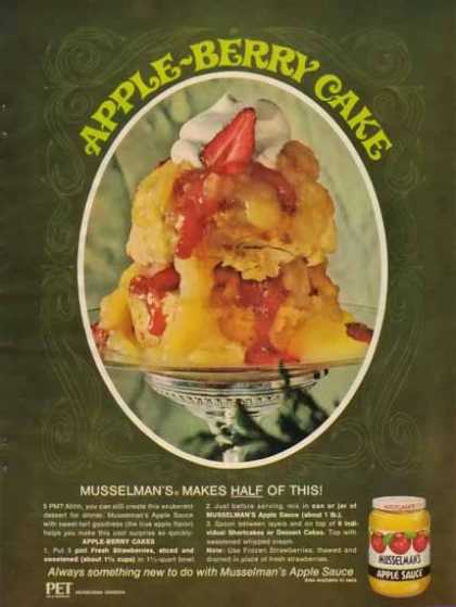 Musselman's Apple Sauce – Apple Berry Cake Recipe (1965)