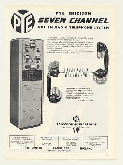 Pye Ericsson 7-Channel VHF FM Radio Telephone (1955)