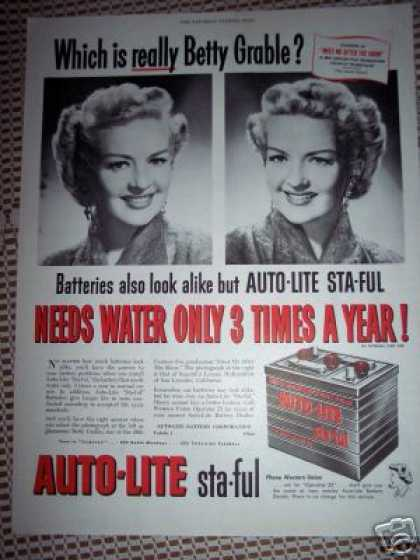 Which Is Really Betty Grable? Auto Lite (1951)