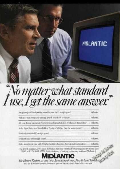 Midlantic Bank No Matter What Standard (1989)