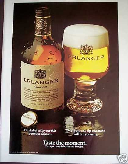 Erlanger Classic Beer Bottle Photo (1981)