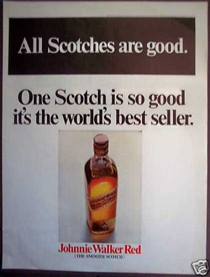 Johnnie Walker Red Scotch World's Best Seller (1968)