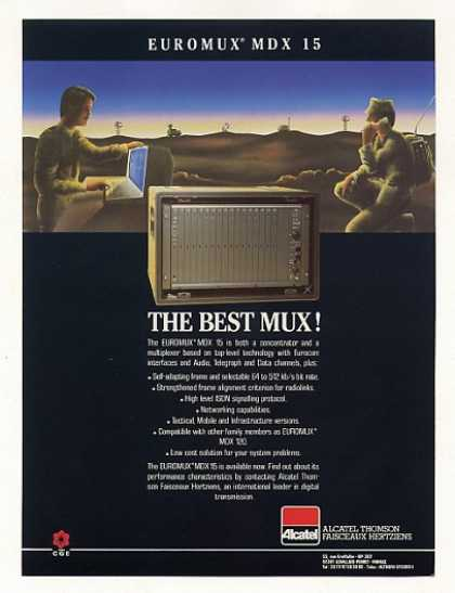 Alcatel Euromux MDX 15 Military MUX Multiplexer (1986)