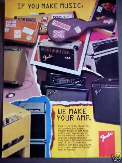 Fender Amps Amplifiers Music (1992)