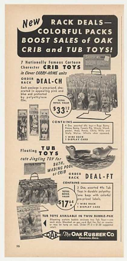 Oak Rubber Co Crib and Tub Toys (1957)