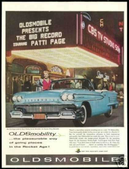 Patti Page Vintage Photo Oldsmobile Convertible (1958)