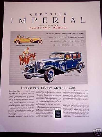 Chrysler Imperial Custom Eight Sedan Large Car (1932)