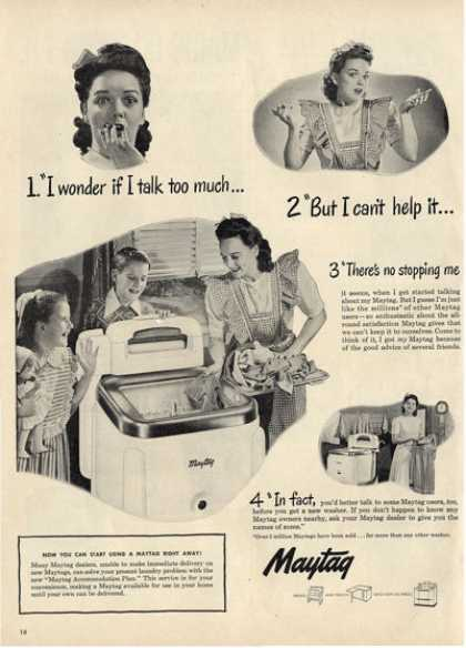 Maytag Classic Washing Machine House Ad T (1948)