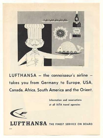 Lufthansa Airlines Connoisseur Chef Food (1959)