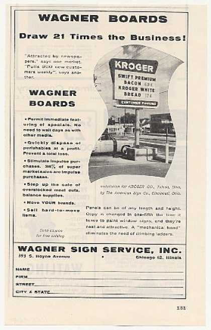 Kroger Store Toledo Ohio Wagner Sign Service (1955)
