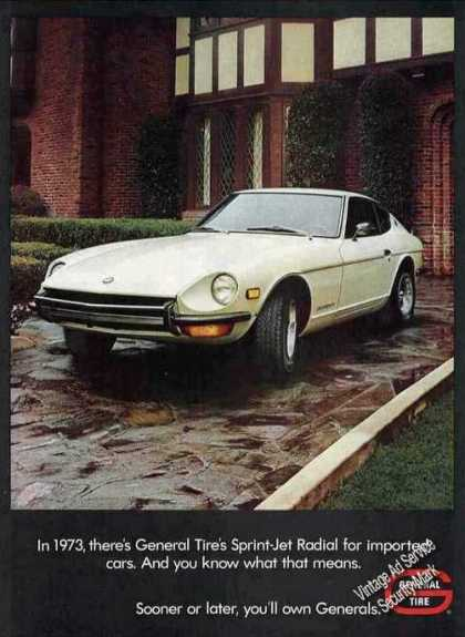 "Datsun ""Z"" Series Photo General Tire (1973)"