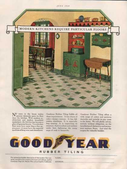 Goodyear Rubber Floor Tiling for Homes (1929)