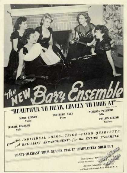 The New Bary Ensemble Photo Antique Trade (1947)