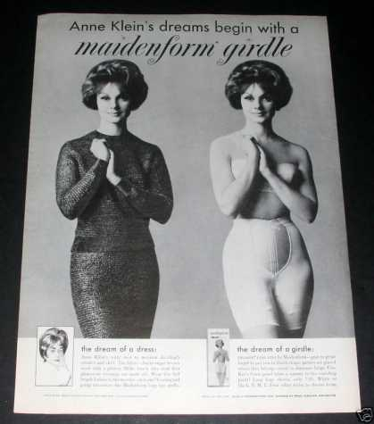 Maidenform Girdle, Anne Klein, Exc (1961)